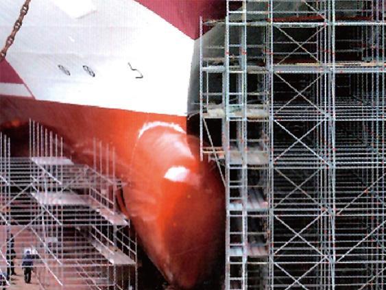 大型造船厂采购盘扣脚手架及安全爬梯