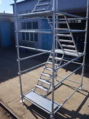 镀锌盘扣安全爬梯48盘扣75型  1.2*2.4(米)